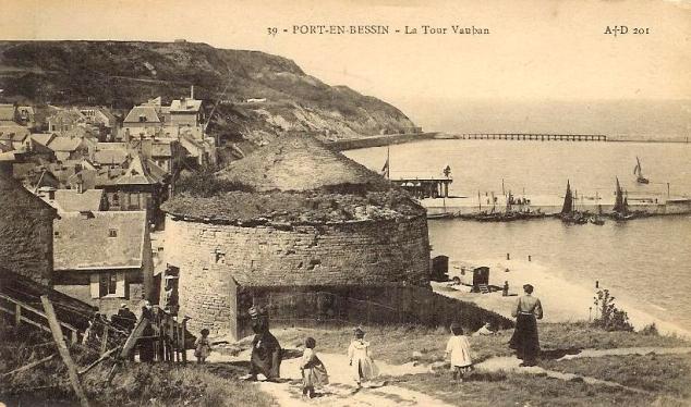 carte postale ancienne de port en bessin port en bessin au gr 233 des mar 233 es le
