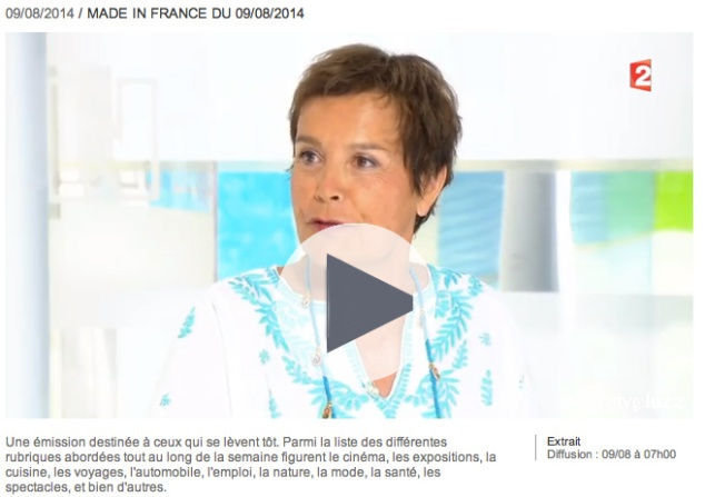 REPLAY - Marie-Dominique Perrin en visite à Port-en-Bessin chez Les Filles du Bord de Mer, diffusion le 9 août 2014. Ca commence à 4mn03